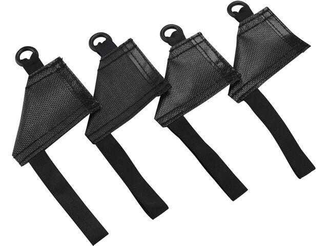 Hilleberg Pole Holder para Montaje Tienda Interior 4 piezas, black